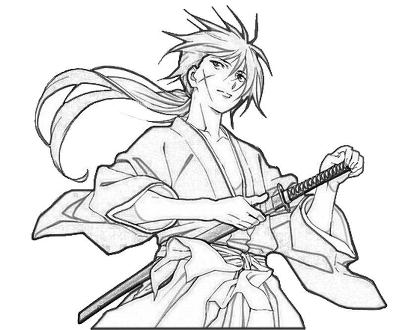 kenshin-himura-weapon-coloring-pages