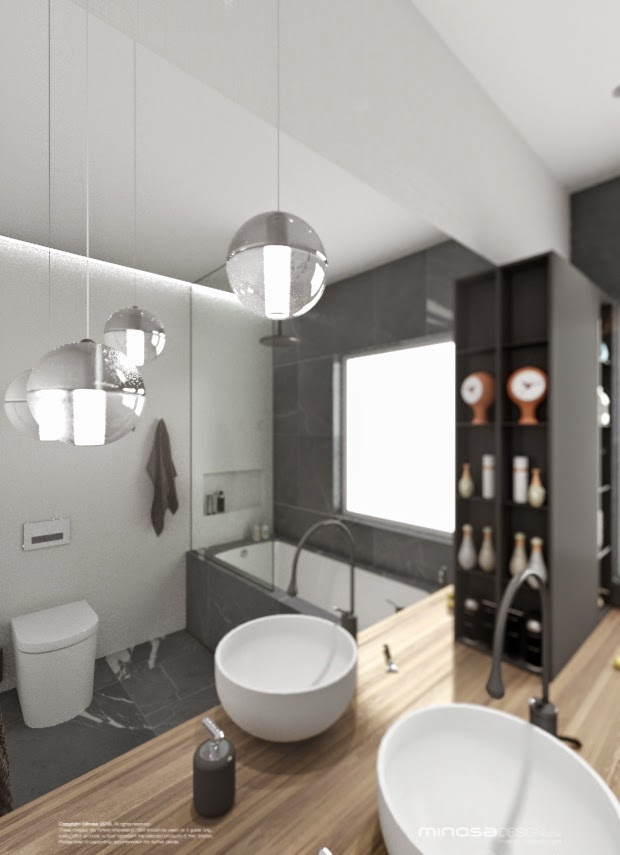 Minosa bathroom design small space feels large - Bathrooms designs for small spaces decor ...