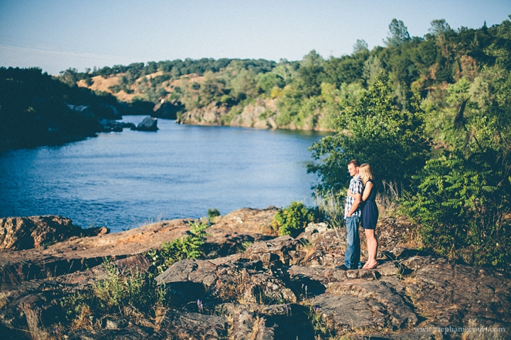 sunset engagement session photos folsom river