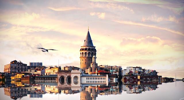 ve may bay di istanbul - Tháp Galata