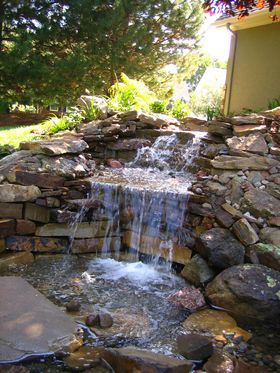 Home Garden Design on Kansas City Landscaping Waterfall Pond Landscape Garden Fountain1 Jpg