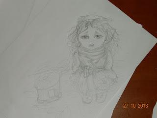 эскиз новой куклы