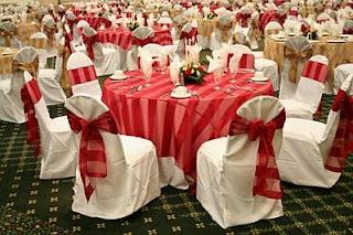 Decoracion de Bodas en Blanco y Rojo, parte 3