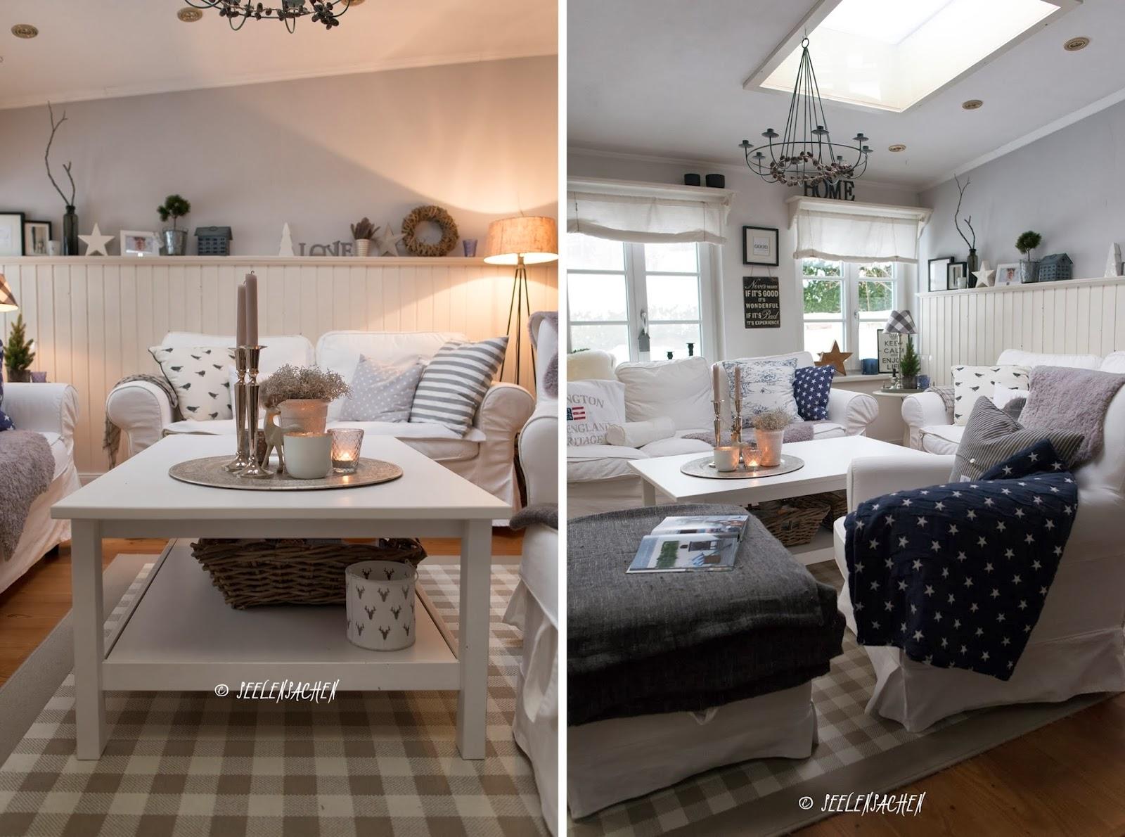 Wohnzimmer dekoration grau: einrichtungsideen wohnzimmer rustikal ...