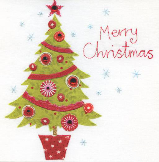 merry christmas tree christmas card-by blue eyed sun