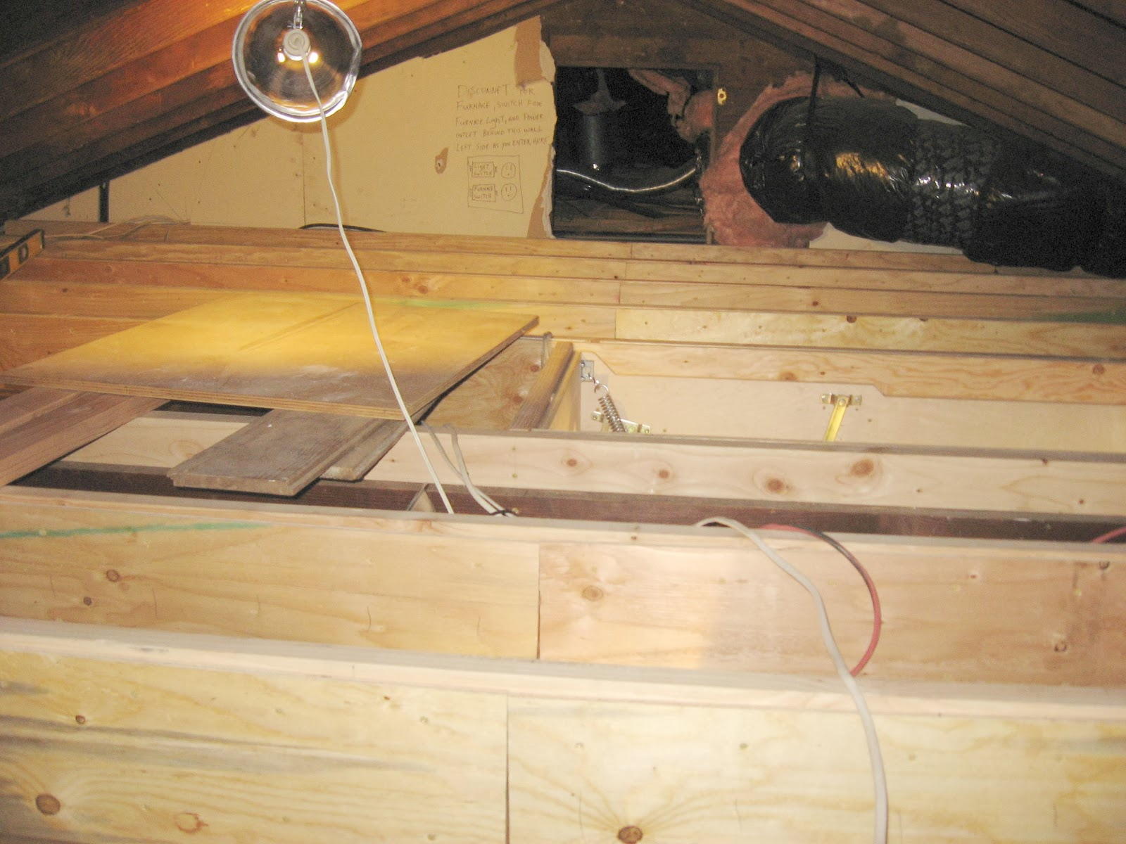 attic door insulate insulated a carpenter access crawlspace to crawl concord space how