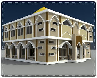 Contoh Desain Masjid Minimalis 1 dan 2 Lantai