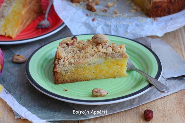 przepis na ciasto z jabłkami i dynią