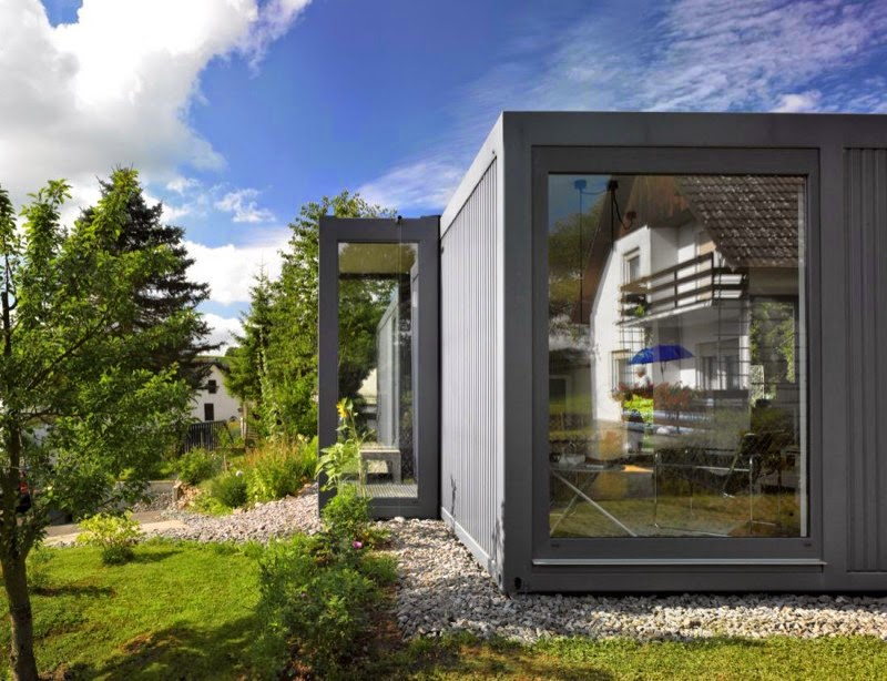 Containerlove shipping container home in germany modern for Small house design germany
