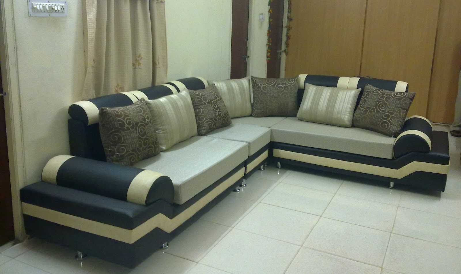 Union Furniture In Hyderabad Secunderabad Silver Lemonchiffon Sofa Set