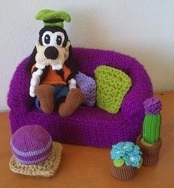foto de goofy a crochet