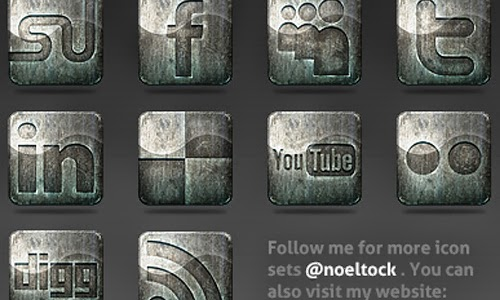 Derelict-Free Social Media Icons