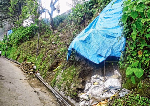 Proposed area for hawkers' market at Chowrasta in Darjeeling