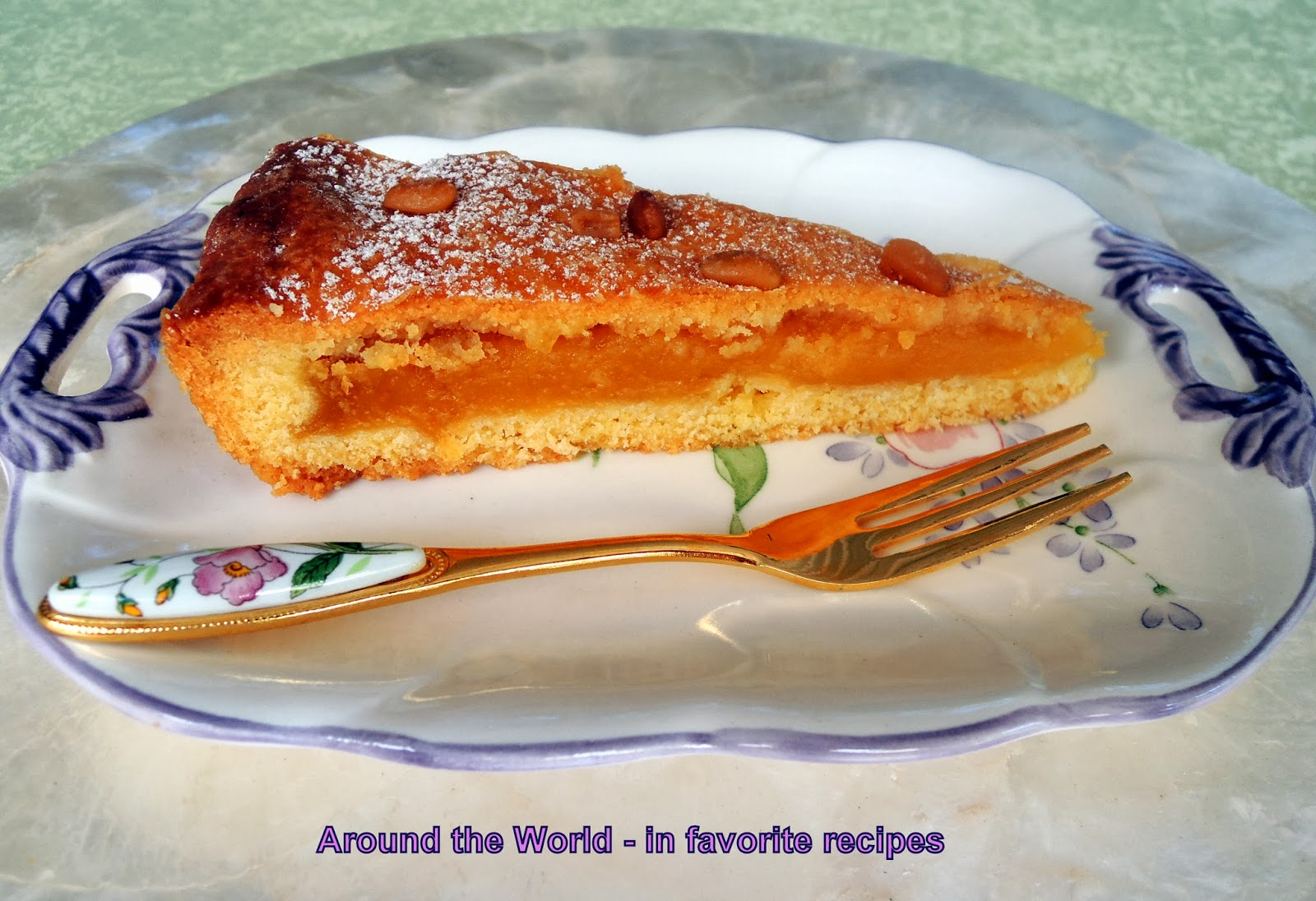 Around the World - in favorite recipes: Lemon and Pine Nuts Tart
