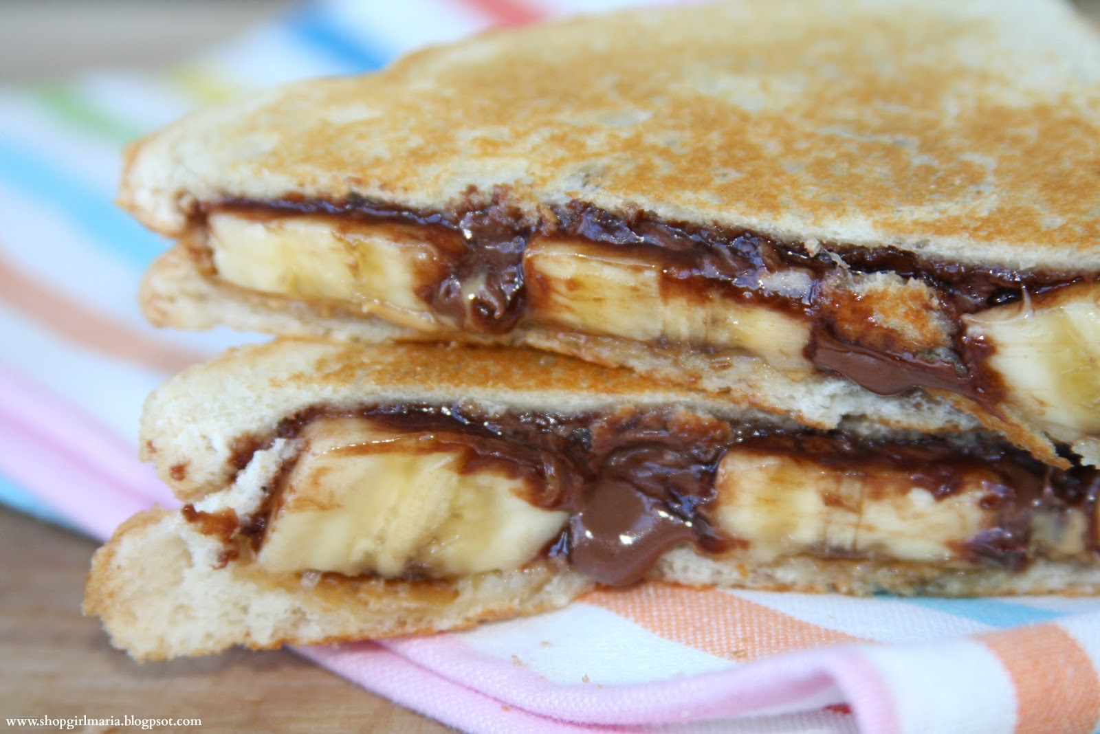 Grilled Nutella, Peanut Butter and Banana Sandwich | A Homemade Living