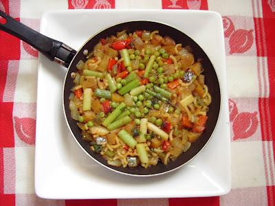 fideua de verduras