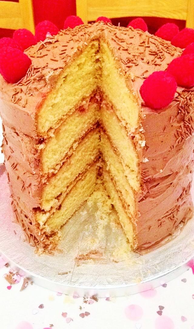 Bitches Be Blogging Vanilla And Raspberry Birthday Cake Recipe