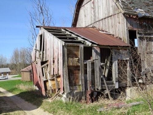 deteriorating shed