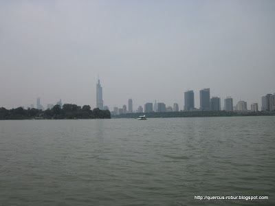 Xuanwu Lake in front of the railway station, Nanijng