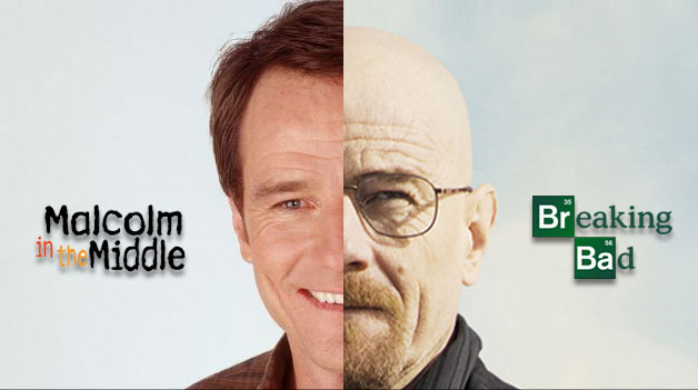 Malcom in the middle, breaking bad, protagonistas y transformación