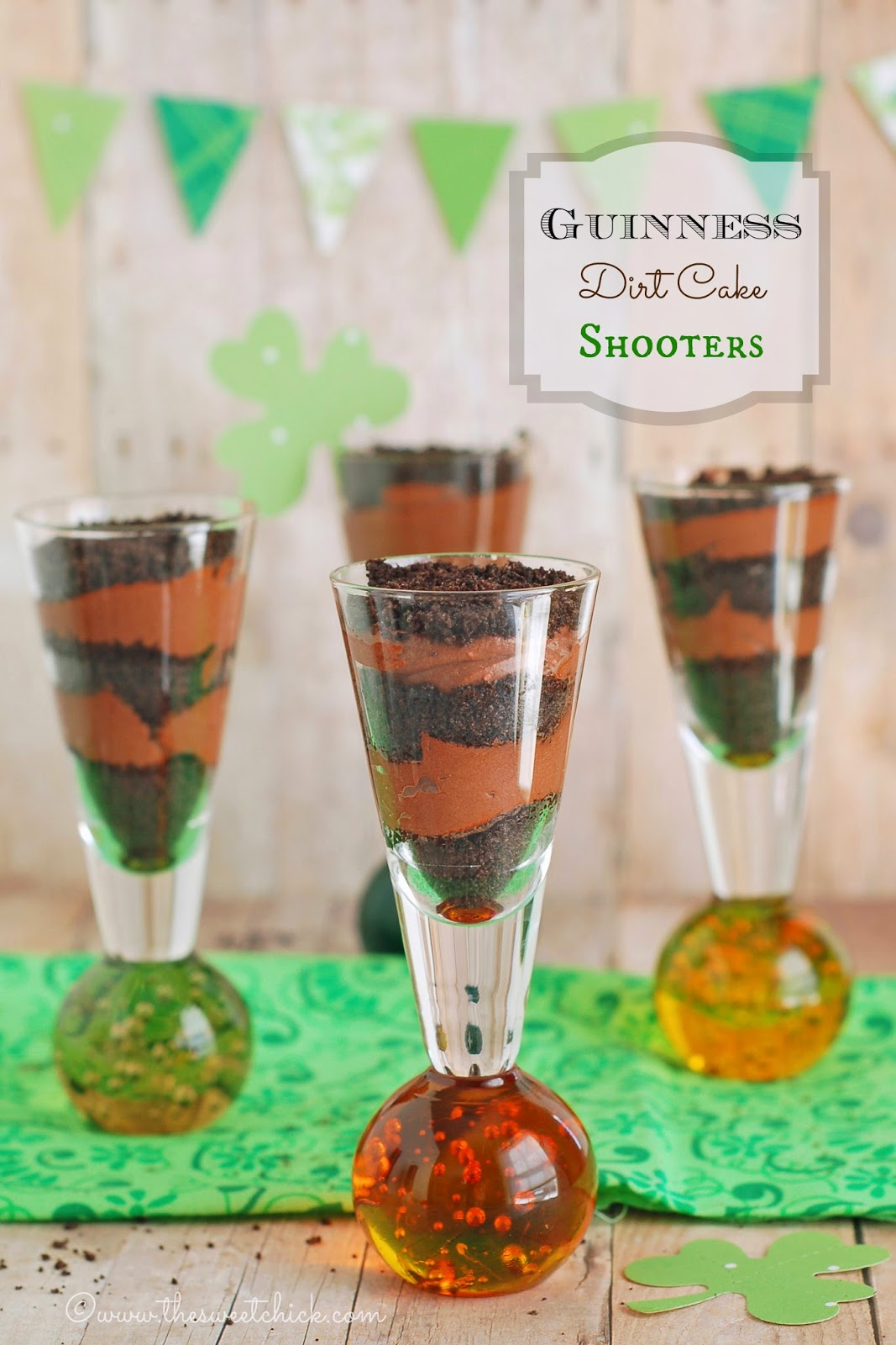 Guinness Dirt Cake Shooters by The Sweet Chick