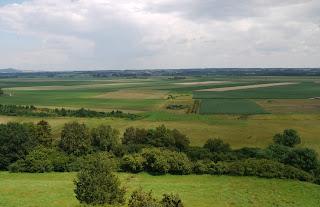 Ausblick von der Heuneburg in Richtung Osten