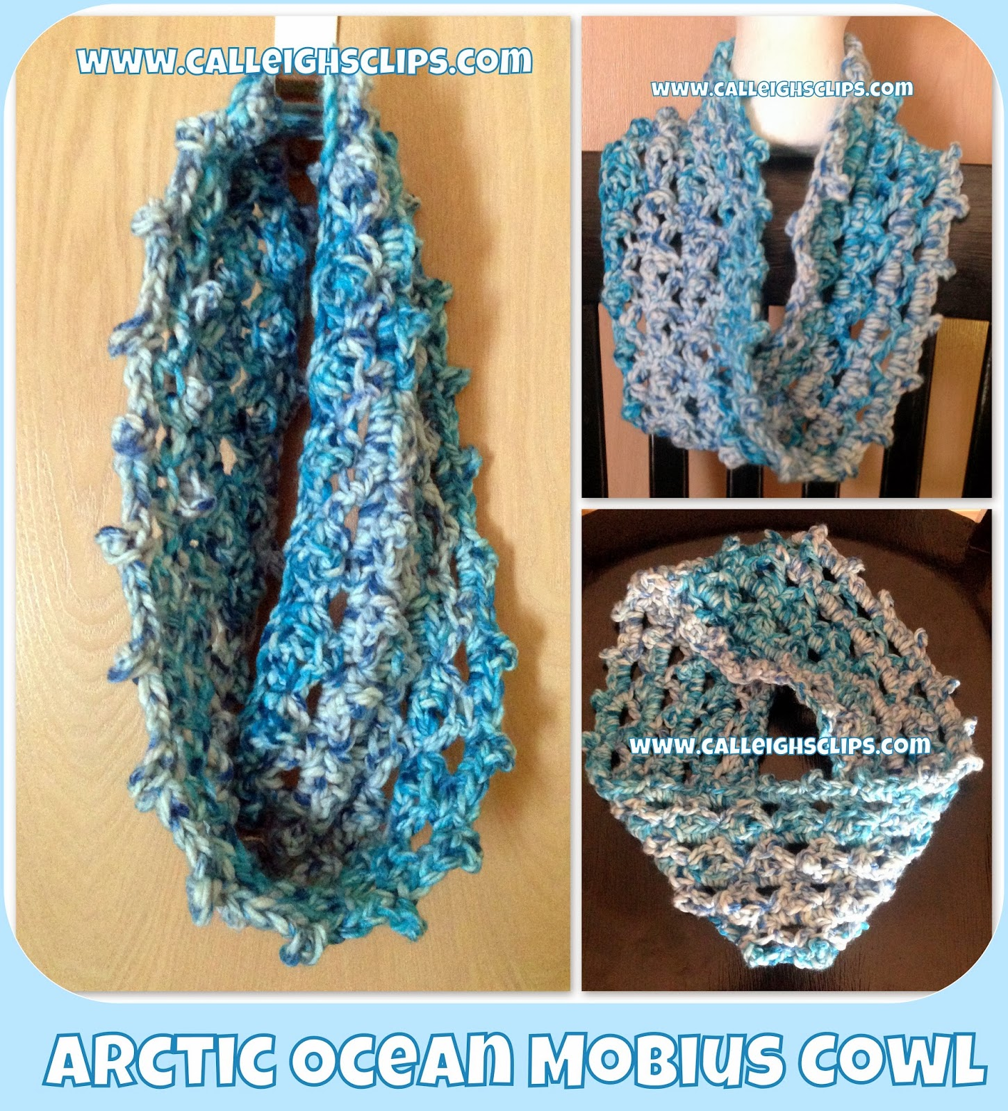 Calleigh\'s Clips & Crochet Creations: Arctic Ocean Mobius Cowl ...