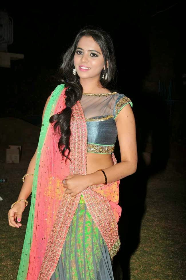 Actress Manasa In Designer Half Saree