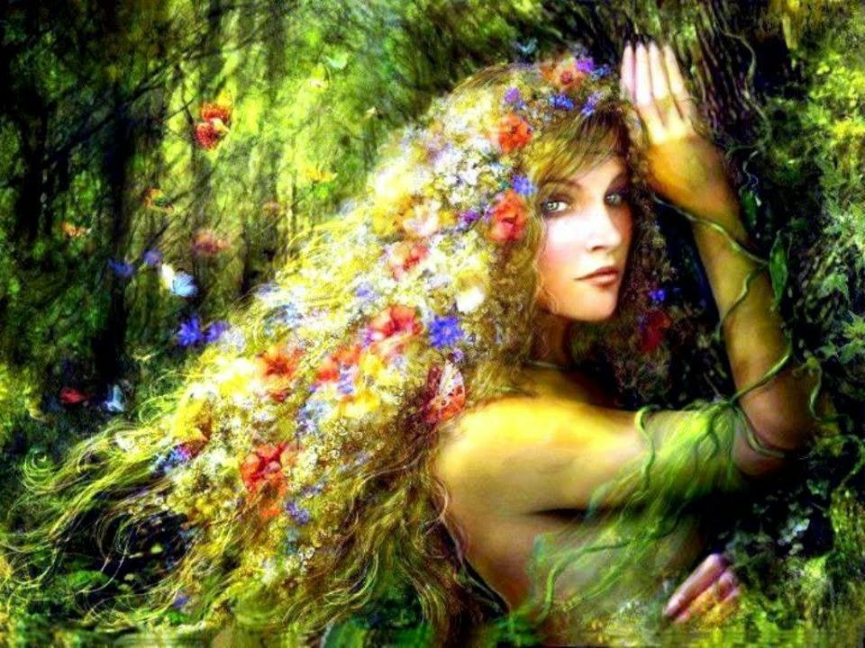 Deusa Flora, Deusa das flores