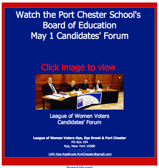 PORT CHESTER BOARD OF EDUCATION FORUM