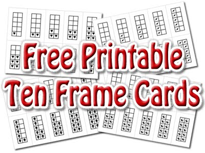 Spinner\'s End Primary (at The Linton Academy): Printable Ten Frame Cards