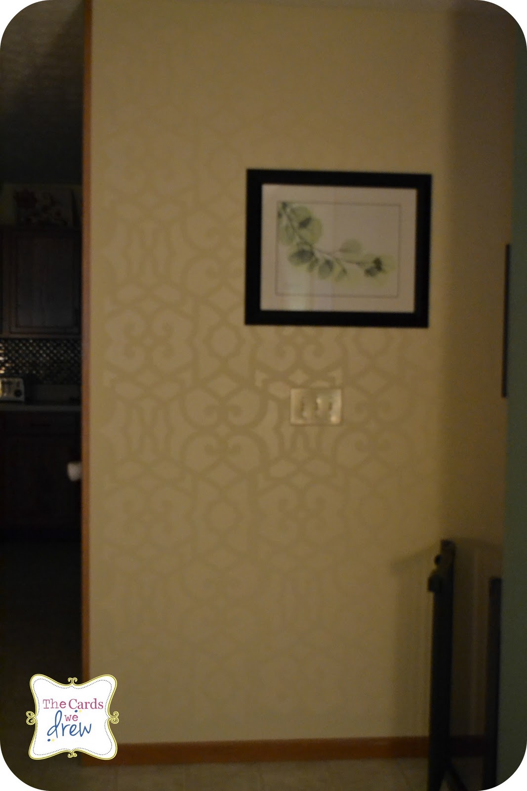 high gloss stenciled wall and a royal design studio giveaway