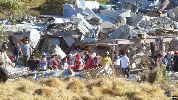 gas explosion incident at the maternity hospital in Mexico