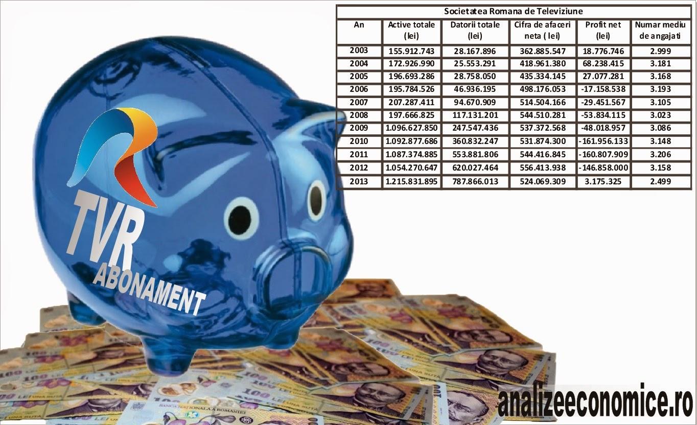 Situațiile financiare TVR 2003 - 2013