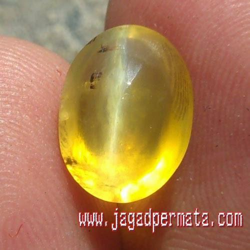 Batu Permata Opal Cat's Eye Bensin