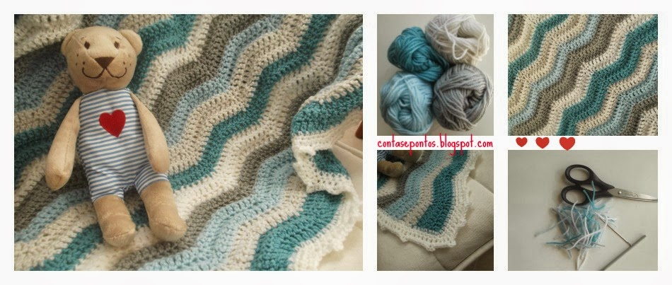 Manta crochet rippley waves