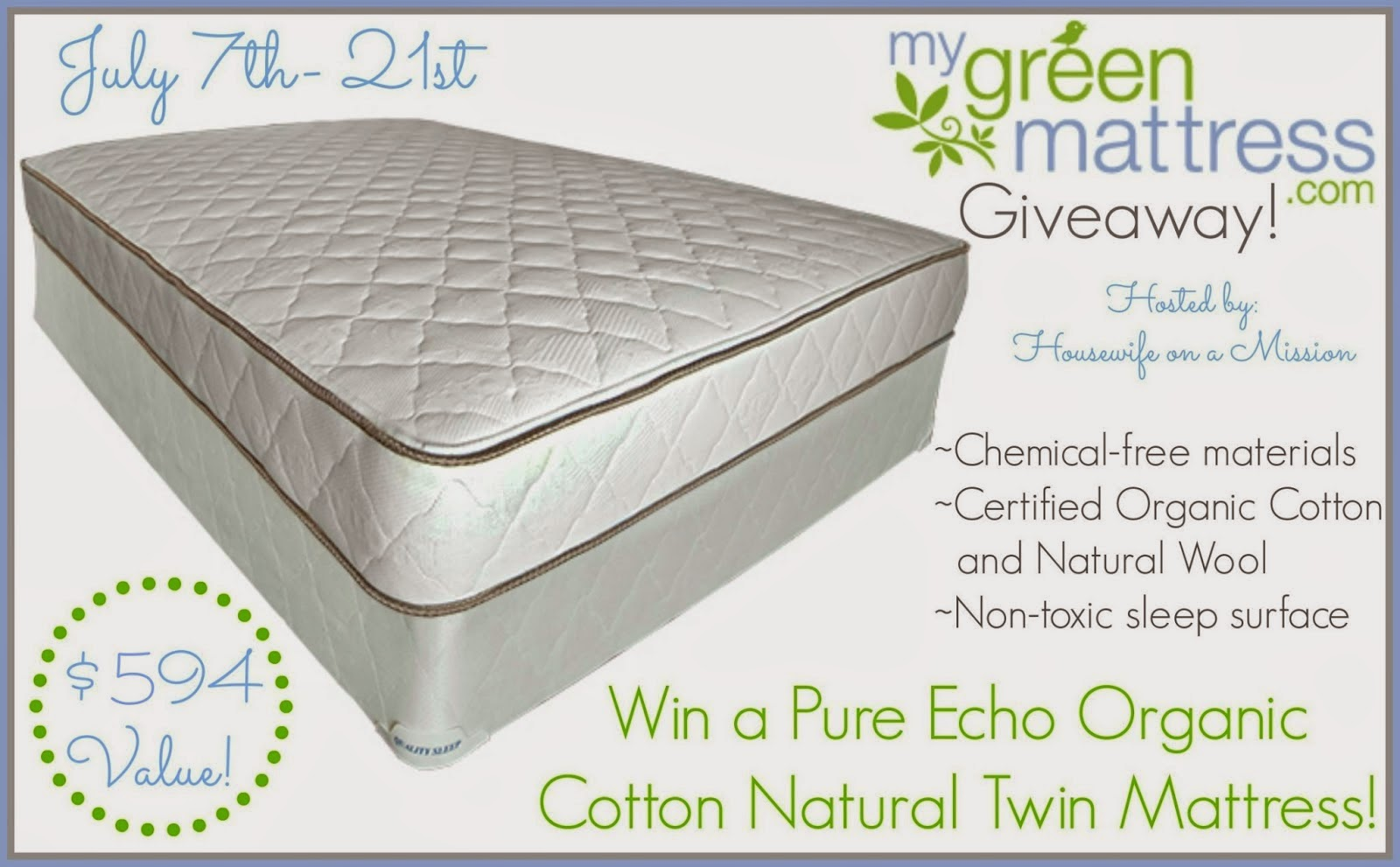 Twin Mattress Giveaway