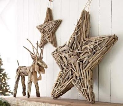Pottery Barn Christmas driftwood stars