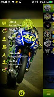 BBM Mod  MotoGP Theme VALENTINO ROSSI V 2.8.0.21 Apk (Clone)