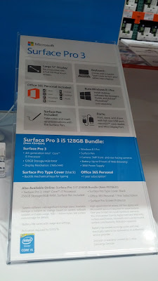 Microsoft Surface Pro 3 i5 bundle with cover and pen