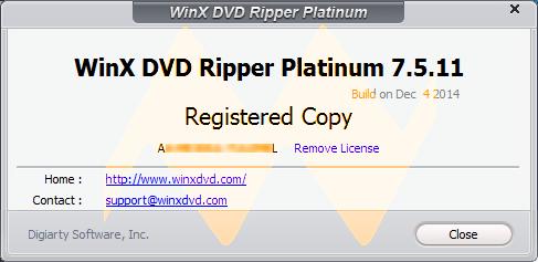 WinX DVD Ripper Platinum 7.5.11