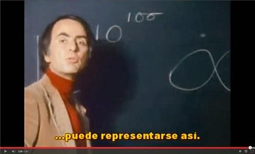 Carl Sagan, explicando lo anterior