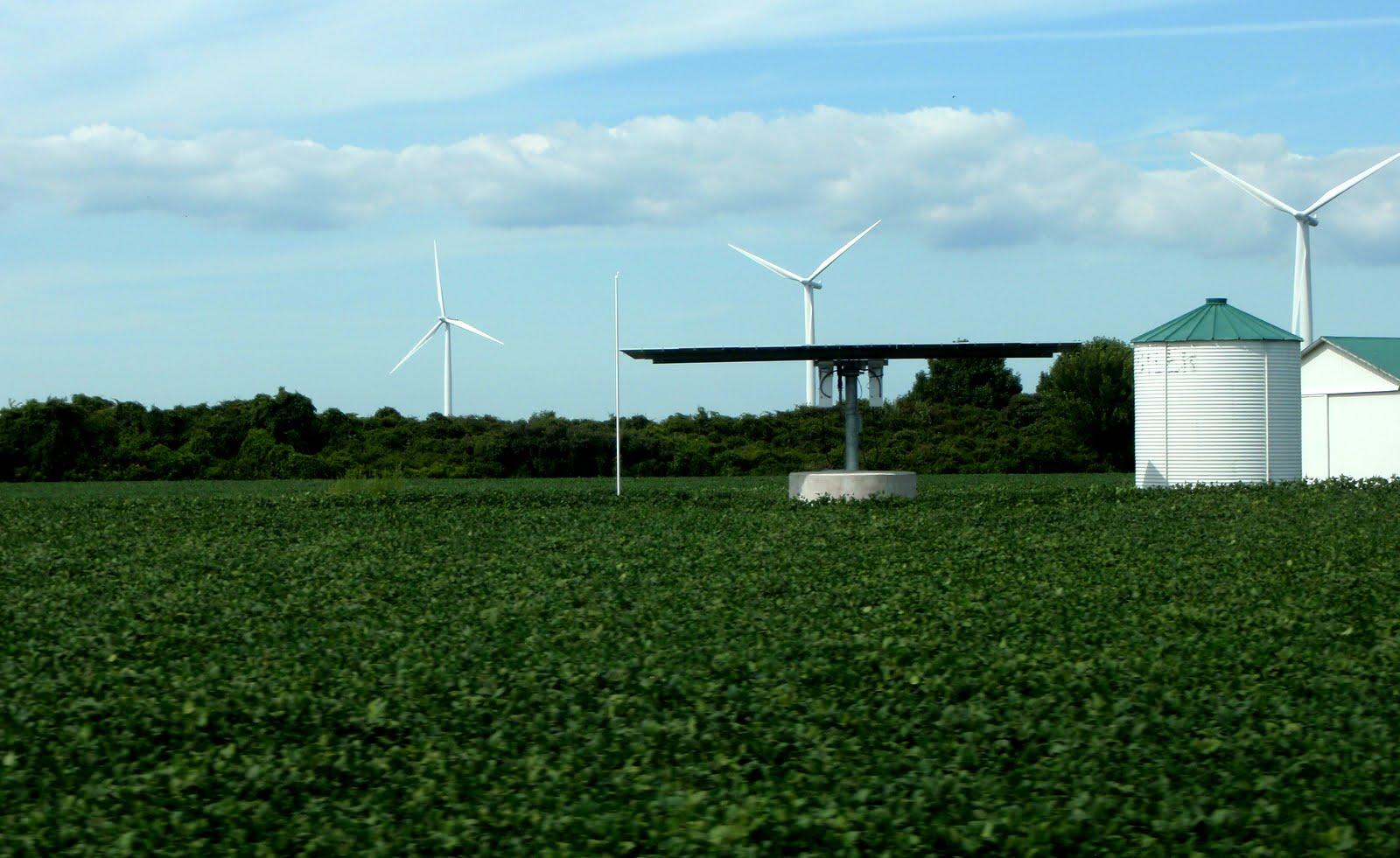 Wind farms.