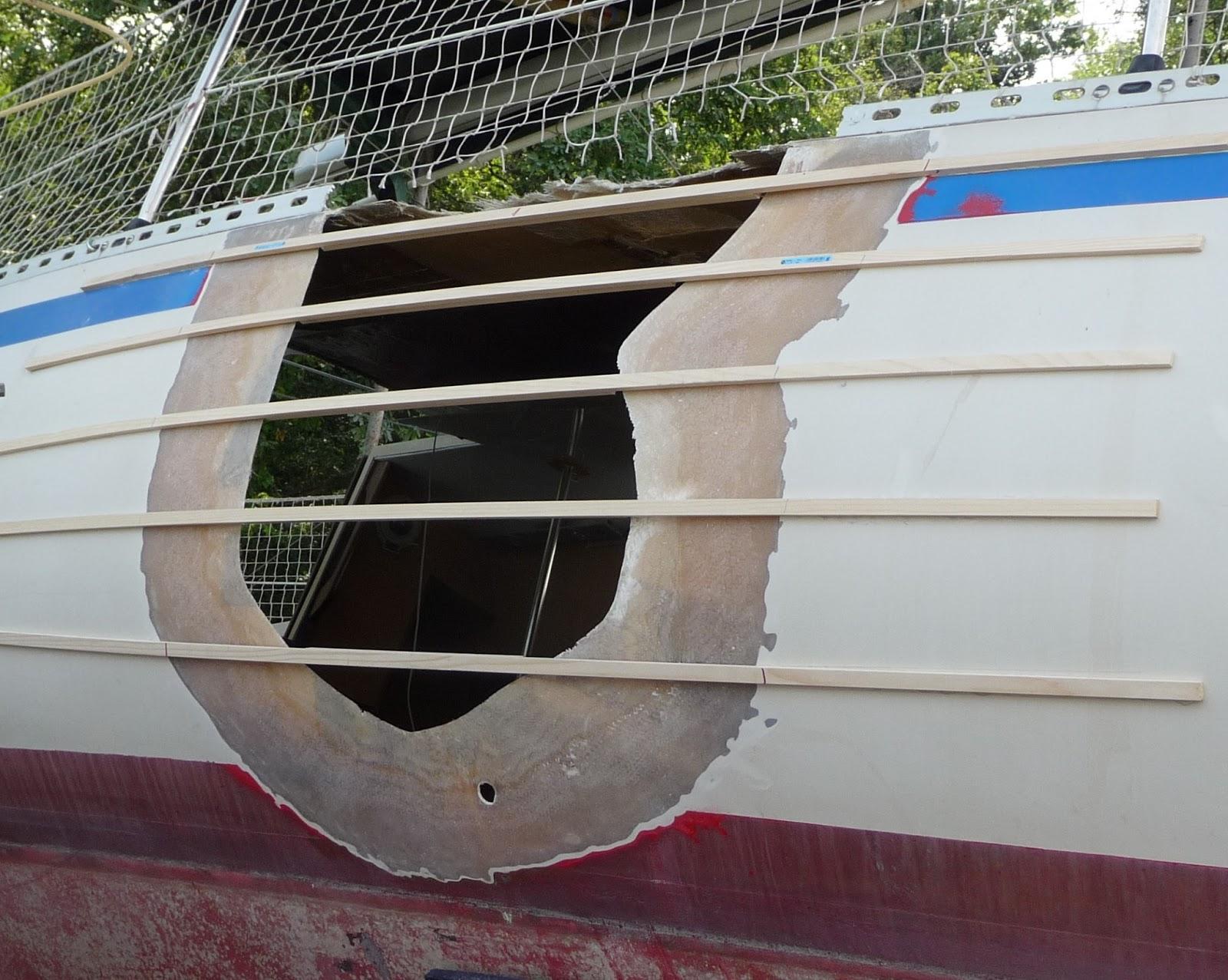 R paration du trou kiss autour de l 39 atlantique - Reparation fibre de verre ...
