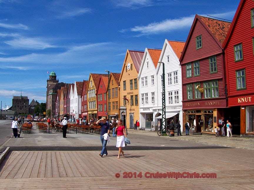 Building & Streets of Bergen, Norway