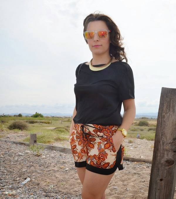mi vestido azul, naranja, moda, blogger, blog de moda, fashion blogger