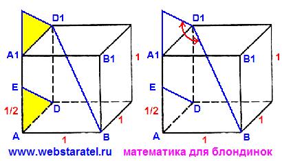 Куб и угол между прямыми. Скрещивающиеся и пересекающиеся прямые. Угол между скрещивающимися прямыми.
