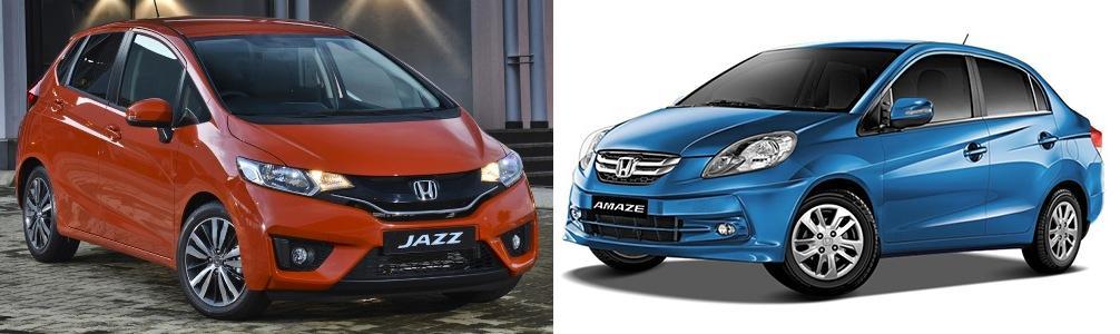 Honda Jazz vs Amaze Comparison