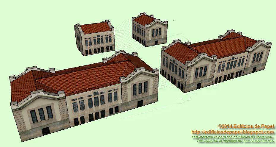Maquetas de papel inspiradas en los edificios del antiguo Hospital