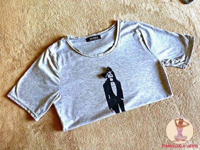 t-shirt mulher choies